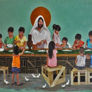 Code: 20780 Title: Last Supper Size: 33x55in. Medium: Acrylic on Canvas