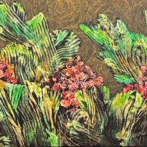 Code: 22266 Title: Succulent Dream Medium: Acrylic on Canvas Size: 24 x 48 in Year: 2018