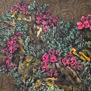 Code: 22267 Title: Blooming Behind Medium: Acrylic on Canvas Size: 24 x 48 in Year: 2018