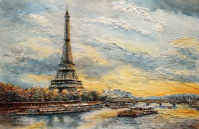 The Eiffel Tower-From the river Seine