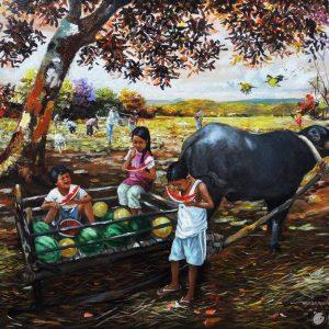 Code: 19516 Title: Pakwan Size: 20in x 26in Medium: Oil on Canvas