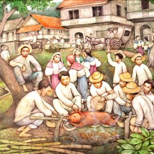 Code: 12251 Title: A Philippine Fiesta Size: 48 x 32 in Medium: Acrylic on Canvas