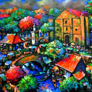 Code: 18875 Title: Beautiful Sunday Medium: Acrylic on canvas Dimension: 48in x 36in