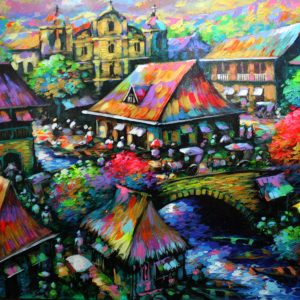Code: 19046 Title: Beautiful Day Medium: Acrylic on canvas Dimension: 36in x 48in
