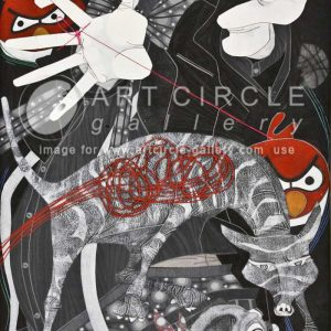Code: 14267 Title: Clown 5 Size: 30 inches x 18 inches Medium: Acrylic on Canvas