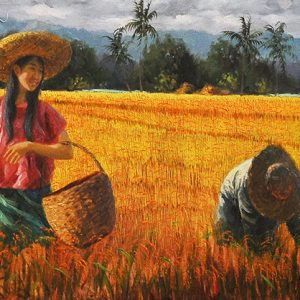 Code: 17142 Title: Awit 146:6 Size: 16x60in Medium: Oil on Canvas