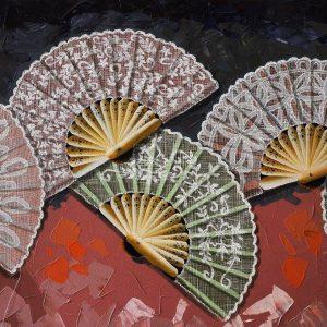 Code: 18025 Title:Callados Abanico I Size: 24in x 48in Medium: Acrylic on Canvas