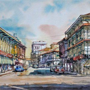 Code: 23118 Title: Nippon Bazaar Escolta Size: 11 x 17  in Medium: Watercolor on Paper Year: 2019