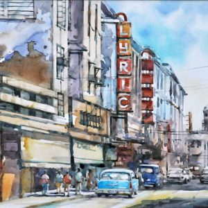 Code: 19794 Title: Lyric Theatre Size: 11 x 17  in Medium: Watercolor on Paper Year: 2019