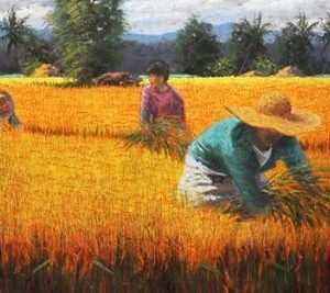 """#17987 """"Ginintuang mga Butil, Biyaya Nang Lupa"""" 