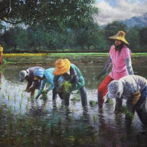 """#17827 """"Rice Planting"""" 
