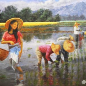 """#18530 """"Rice Planting"""" 