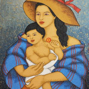 Code:18741 Title:Mother and Child Size:32x24 Medium:OC