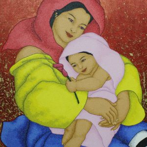 Code:19068 Title:Mother and Child Size:32x24 Medium:OC