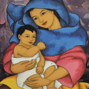 Code:20111 Title:Mother and Child Size:32x24 Medium:OC