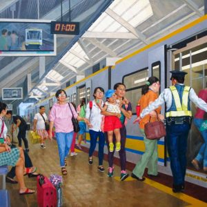 Code: TDY 011 Title: Commuters Delight Size: 36 x 48 in Medium: Oil on Canvas Year: 2018