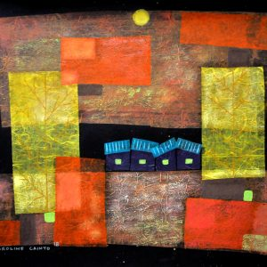 Code: 21081 Title: The Truth May Vary Size: 20 x 26 in Medium: Mixed Media on Canvas