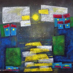 Code: 21419 Title: Dancing in the Moonlight Size: 20 x 26 in Medium: Mixed Media on Canvas