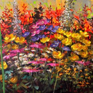 "The Language of Flowers 24"" x 60"" Oil on Canvas"